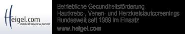Betriebliche Gesundheitsförderung Hautpkrebs-, Venen- und Herzkreislaufscreenings Bundesweit seit 1989 im Einsatz